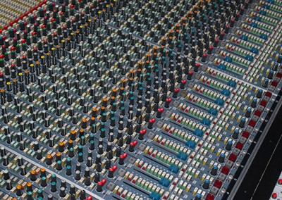 View one of the largest sound desks in Europe
